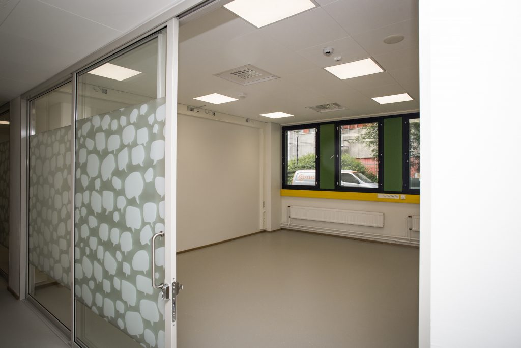 New guild rooms are meant to be shared. One room will serve two or more student organizations.